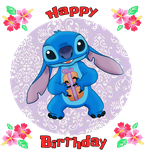 Happy Birthday from Stitch by SunsetMajka626