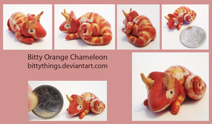 Bitty Orange Chameleon - SOLD by Bittythings