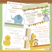 Cute Animals Invitations by jdDoodles