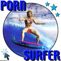Porn Surfer - T-shirt by scart