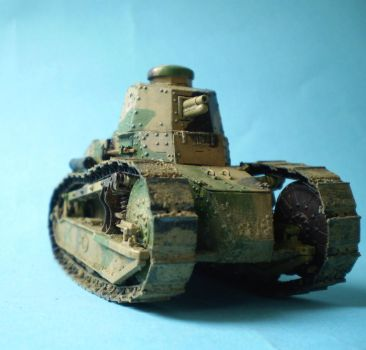 1:35 scale Renault FT-17 by GeraltOfPoland