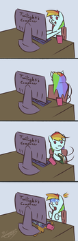 Books and Computers Don't Mix by LiraCrown