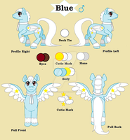 Mlp Blue Reference Sheet by TheDragonInTheCenter
