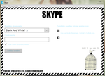 001 - Black and white theme for skype. by lovelydreeams
