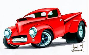 Willys Pick Up - Red by ADStamper