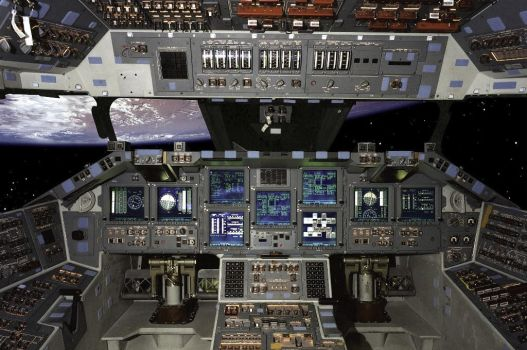 Shuttle Cockpit by meco