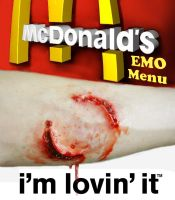 Mc Donalds EMO Menu by spoof-or-not-spoof