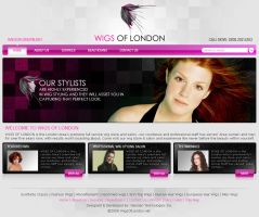 Wigs of london Homepage by zaib