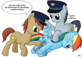 Rainbow Dash Under Arrest by MolecularKogwheel