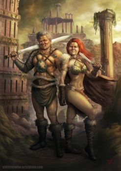 The Barbarian Couple by Elderscroller