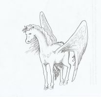 winged horse by Eilesselas