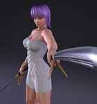Ayane  - Render......Do not touch me! DOG by Dizzy-XD