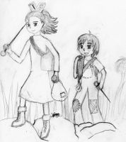 Arrietty and her new sister by StefanPWinc