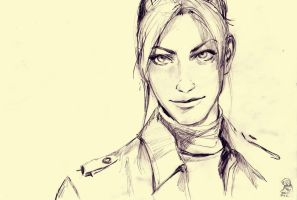 Claire sketch by FirelordPie