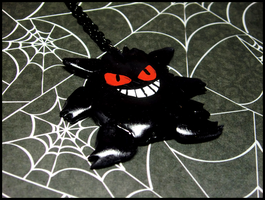 Gengar Necklace by GrandmaThunderpants