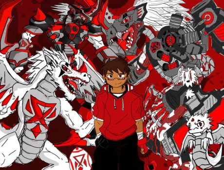 Tai And His Digimon By Chomeister- by ChoMeiSter14