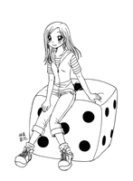 Girl on a dice by subaru87