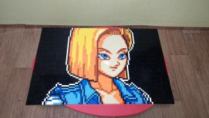 Dragon Ball Z - Android 18 (Lego Mosaic) by skyin2020