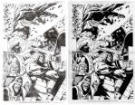JLA Sample Pencils and Inks by Splotchy77