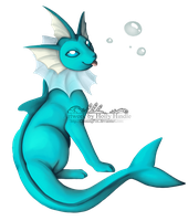 A cute 'n squishy vaporeon by CunningFox