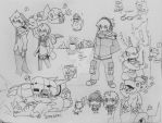 Digimon doodles (mostly next order) by ginryuumaru