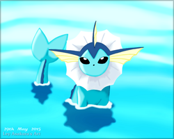 Vaporeon Loves Water [Fan Art] by LeyAsakura