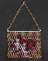 Chainmaille Pokemon Inlay - Latias by SerenFey