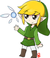 Toon Link shaded (read description, please!) by fruchtkuchentee