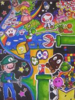 super mario world by undeadamy