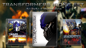-Transformers Icons Set- by Hemingway81
