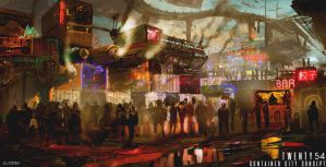 Container City by SamTheConceptArtist