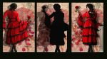 Loves Red Rose Triptych by amethystmstock