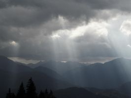 sunlight breaking through the clouds by Paul774