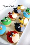 Angry Bird Cupcakes by Verusca