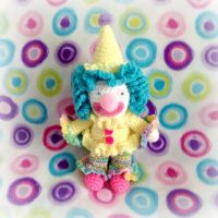 Lucky the Clown Soft Sculpture by MadameWario