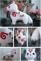 CUSTOM OKAMI PLUSH FOR SALE by chupachup