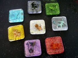 Elemental Eeveelution set by Kisses-or-Stitches