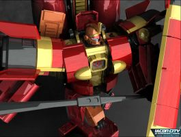 3D Sentinel Prime by Elgoodo by hansime