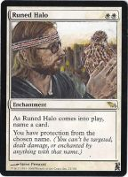 Magic Card Alteration:Royal Tenenbaums Runed Halo by Ondal-the-Fool