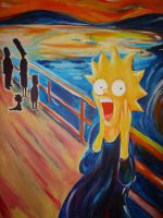 Lisa Simpsons Scream by ninja-bee