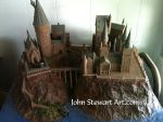 Hogwarts Castle Harry Potter scratch-made model by johnstewartart