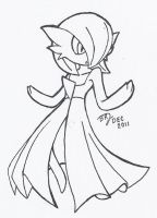 Gardevoir by LeatherRuffian