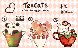 Basic teacats batch no.1 (closed) by scribblin