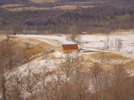 cabin in early spring by burton8518