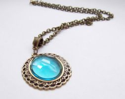 Blue Latice Necklace by ms-pen