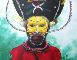 New Guinea Painted Face by junglegrown
