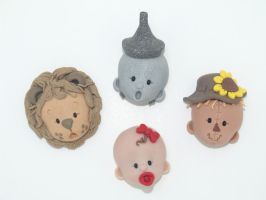 Wizard of Oz Fimo Magnets by Jarreth