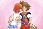 Sora x Kairi by litecrush