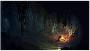 Witch finds Children in the Forest by Chiara-Maria