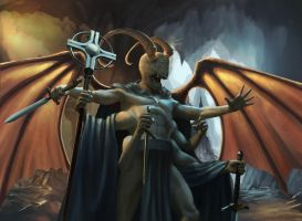 MTG inspired Demon (Lord of the pit) by Guy-Mandude
